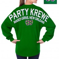 Party Krewe Mardi Gras, New Orleans - Classic Crew Neck Spirit Football Jersey®