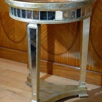 Canonbury - Art Deco Mirrored Side Table Tables Mirror Furniture