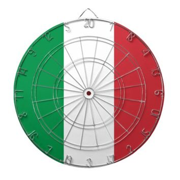 Dartboard with Flag of Italy