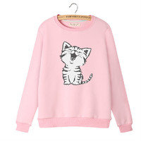 Japanese cartoon cat cute sweater coat