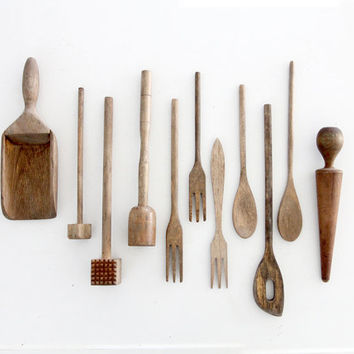 vintage kitchen utensil collection