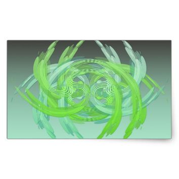 Swirls n Waves Rectangular Sticker