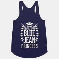 Barefoot Blue Jean Princess (White Ink)
