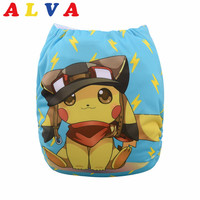 Alvababy 2016 New Designed Resauble Cloth Diaper with 1pc Microfiber Insert YD64