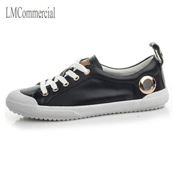 Women's Casual Flat Sole Lace Up Round Toe Fashion Sneaker
