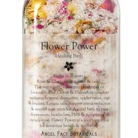 Flower Power Organic Bath Salts - Feminine Wellness Bath Infused with Reiki - Vegan and Fabulous - Bathe in Flowers 15.5 oz