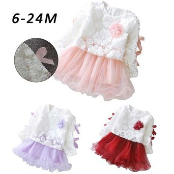 Autumn Infant Baby Kids Girls Party Lace Tutu Princess Dress Clothes Outfits#crystalshining