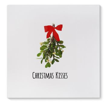 CHRISTMAS KISSES Canvas Art By Terri Ellis