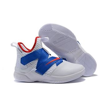 Nike LeBron Soldier 12 Royal Red White - Best Deal Online