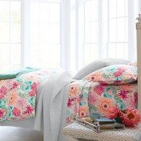 Watercolor Floral Percale Bedding