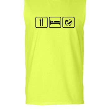 Eat Sleep Volleyball - Sleeveless T-shirt