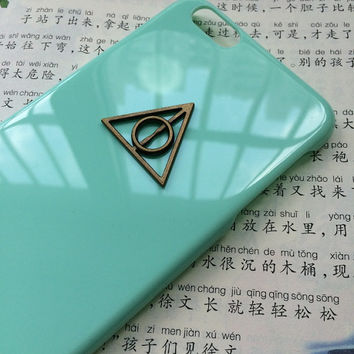bronze deathly hallow case,creative protective case for iPhone 6 iPhone 6 plus iPhone5/s, summer gift hard case,best friends gift
