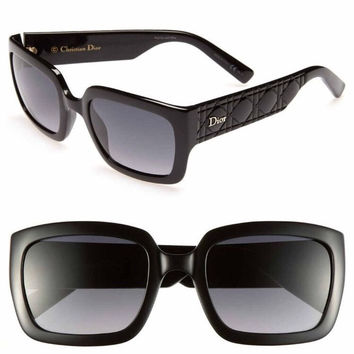 "Dior ""My Dior"" Special Fit 53mm Black Sunglasses"