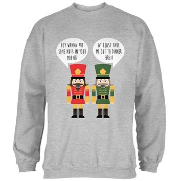 Christmas Nutcracker Nuts in Your Mouth Funny Mens Sweatshirt