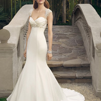 Casablanca Bridal 2179 Beaded Tank Satin Fit & Flare Wedding Dress