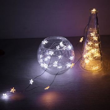 30- LEDs Copper Wire Star String Light for Glass Craft Bottle Fairy Valentines Wedding Lamp Party Xmas Decoration