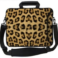 "Designer Sleeves 15"" Leopard Executive Laptop Bag"