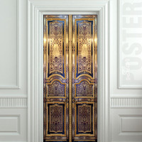 Door STICKER old baroque house enter doors mural decole film self-adhesive poster 30x79inch(77x200 cm)