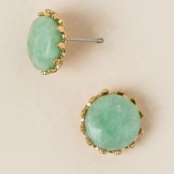 Consuela Crown Stud Earring In Mint