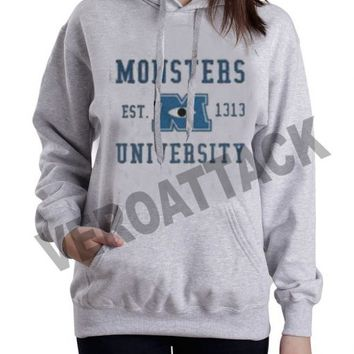 monsters university est 1313 grey color Hoodies