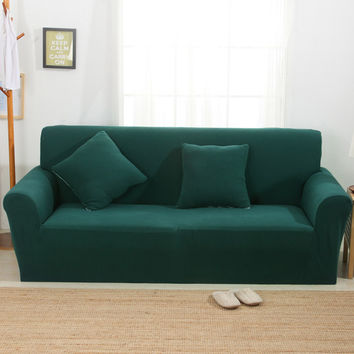 Knitting Sofa Cover Sofa Slipcover Single/Two/Three/Four-Seater Stretch Scenic Funda Sofa Couch Cover Capa De Sofa Decoration