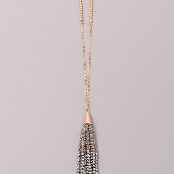 Simple Tassel Pendant Necklace