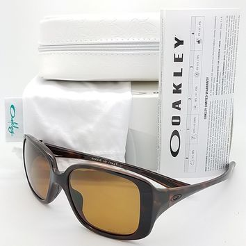 NEW Oakley LBD sunglasses Tortoise Bronze Polarized 9193-06 womens AUTHENTIC