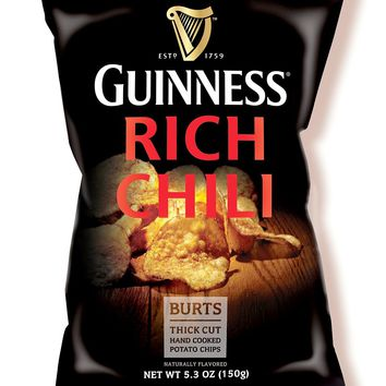 Burt's Guinness Rich Chili Thick Cut Potato Chips 5.3 Oz