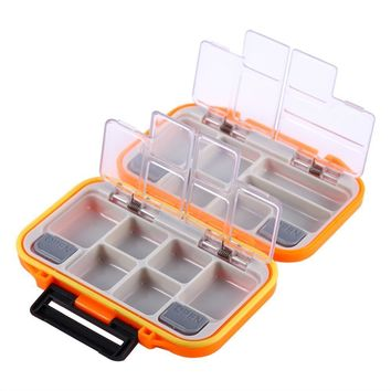 Portable Compartments Spinning Fly Fishing Lure Storage Box