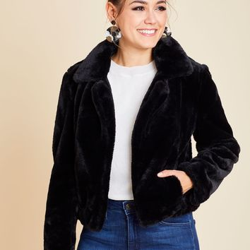 Blank NYC Faux Fur Uptown Girl Jacket