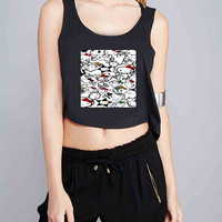Hello Kitty for Crop Tank Girls S, M, L, XL, XXL *NP*