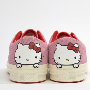 Converse X Hello Kitty One Star Trainers at asos.com