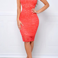 RESTOCK Take Me Anywhere Coral Dress