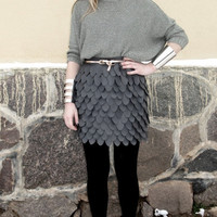 $40.00 Faux leather cut out detail Dragon armor Skirt by GreenFieldsJewels