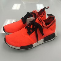 100% AUTH ADIDAS NMD R1 PK ORANGE NOISE SIZE? UK EXCLUSIVE SZ 8.5 SUPREME YEEZY