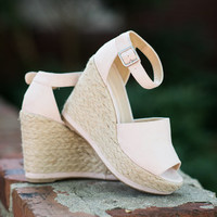 Confess Your Love Wedges, Blush