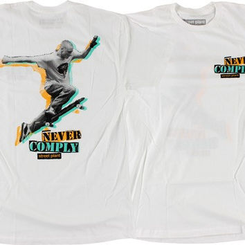 Street Plant Never Comply Tee XxLarge White