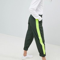 ASOS DESIGN Bree Combat Trousers With High Vis Side Stripe at asos.com