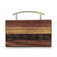 2018 brand fashion Women wood evening bag Cute box solid wooden wallet Clutch Spring Summer Woman party shoulder bag(C1586)