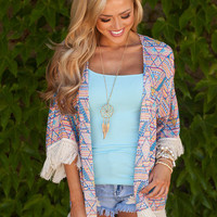 Trouble is a Friend Fringe Kimono