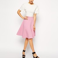 ASOS Midi Skirt With Seam Detail in Scuba