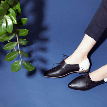 SALE 30% Off // Shoes, Leather Shoes, Handmade Shoes, Flats, Oxford Shoes, Lace-Up Shoes, Women Shoes