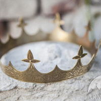 "Medieval Brass Crown ""Sansa"""
