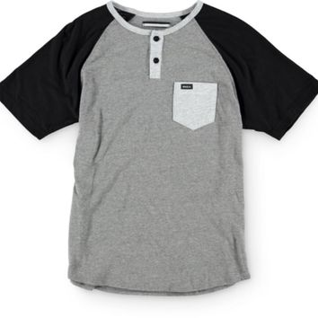 RVCA Boys Come Up Henley Pocket T-Shirt