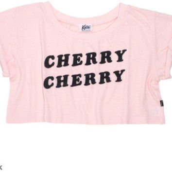 TEE - CHERRY CHERRY crop tee - Katie Official Web Store