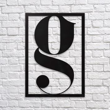 Letter G - Metal Wall Decor