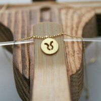 Elegant Taurus Zodiac Necklace