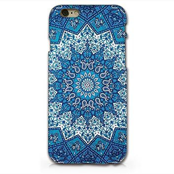 Blue Mandala Hard Plastic Phone Case for iphone 6PLUS _ SUPERTRAMPshop (iphone 6 plus)