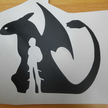 How To Train Your Dragon-Hiccup & Toothless Vinyl Decal