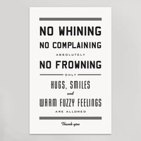 No Whining Print (11 x 17)